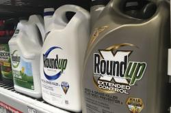 In this Feb. 24, 2019, file photo, containers of Roundup are displayed on a store shelf in San Francisco.