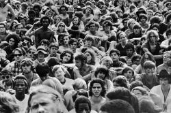 The crowd at Woodstock in 1968
