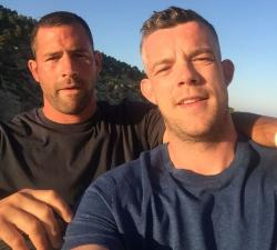 Steve Brockman, left, with Russell Tovey, right.