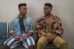 "Dyllon Burnside, left, and Billy Porter, right in a scene from ""Pose."""