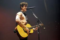 "Shawn Mendes performs during ""The Tour"" at the Allstate Arena in Chicago."