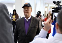 In this Friday, May 24, 2019, file photo, Mario Batali arrives for arraignment, at municipal court in Boston.