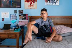 """Sam Mazaheri, now 14, was diagnosed with Type 1 diabetes when he was 9. """"I broke down because I thought I had to have four shots every day,"""" Sam says."""