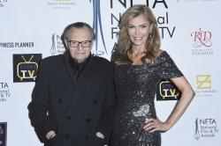 Larry King, left, and Shawn King attend the 2018 National Film & Television Awards at the Globe Theatre in Los Angeles.