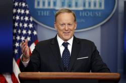 Then-White House press secretary Sean Spicer