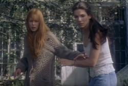 "Nicole Kidman, left, and Sandra Bullock, right, in the trailer for ""Practical Magic."""