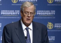 David Koch speaks in Orlando, Fla.