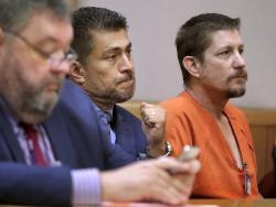 In a Aug. 23, 2018 file photo, Michael Drejka sits in court during a bond hearing at the Pinellas County Justice Center in Clearwater, Fla.