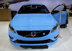 In this Feb. 6, 2014, file photo, Volvo displays the S60 Polestar during the media preview of the Chicago Auto Show at McCormick Place in Chicago