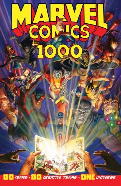The cover of Marvel Comics #1000, the publisher's 80th anniversary issue.