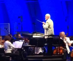 John Williams conducting at The Hollywood Bowl this past weekend.