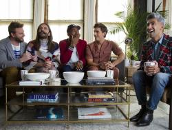 "From left to right: Bobby Berk, Jonathan Van Ness, Karamo Brown, Antoni Porowski and Tan France in ""Queer Eye"" Season 4."