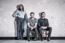 (l to r) (l to r) Zawe Ashton, Charlie Cox and Tom Hiddleston in 'Betrayal' at London's Harold Pinter Theatre.
