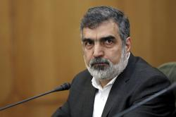 In this July 7, 2019, file photo, spokesman of the Atomic Energy Organization of Iran Behrouz Kamalvandi attends a press briefing in Tehran, Iran