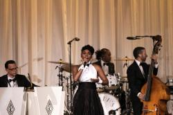 Janelle Monae performs at the Ralph Lauren show during New York Fashion Week in New York, Saturday, Sept. 7, 2019