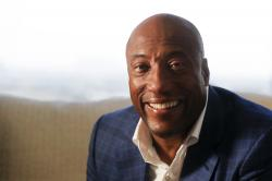 Comedian and media mogul Byron Allen poses for a picture Thursday, Sept. 5, 2019, in Los Angeles