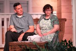 "Ron Martin and Lynda  DiStefano in ""All My Sons."""