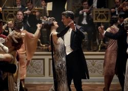 "Michelle Dockery as Lady Mary Talbot, center left, and Matthew Goode as Henry Talbot in a scene from ""Downton Abbey."""
