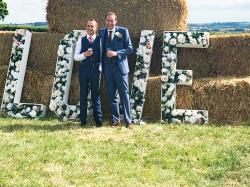 Callum Hodge and his husband enjoyed a perfect wedding celebration despite a hateful - and anonymous - letter