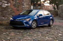 This undated photo provided by Toyota shows the 2020 Toyota Corolla Hybrid sedan