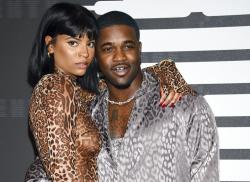 Rapper A$AP Ferg, right, and girlfriend Renell Medrano attend the Spring/Summer 2020 Savage X Fenty show.