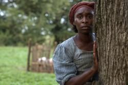 "Cynthia Erivo as Harriet Tubman in a scene from ""Harriet."""