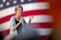 Democratic presidential candidate Elizabeth Warren, D-Mass.