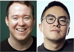 Shane Gillis, left, and Bowen Yang, right.