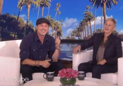 "Brad Pitt and Ellen DeGeneres on ""The Ellen DeGeneres Show."""