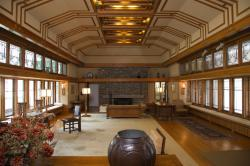 The Frank Lloyd Wright Room located in The American Wing at the museum in New York.