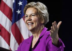 Democratic presidential candidate U.S. Sen. Elizabeth Warren, speaks to delegates during the 2019 Massachusetts Democratic Party Convention, Saturday, Sept. 14, 2019, in Springfield, Mass.