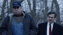 "Bill Camp, left, and Mark Ruffalo, right, in the trailer for ""Dark Waters."""