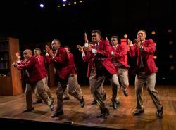"The ensemble of ""Choir Boy,"" at the Calderwood Pavilion through October 12"