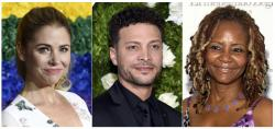 From left, Kerry Butler, Justin Guarini and Tonya Pinkins who host podcasts on the new Broadway Podcast Network