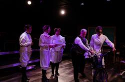 """A scene from """"Blue Stockings,"""" at Chicago's Den Theatre through October 13."""