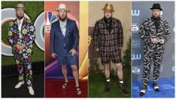 "This combination photo shows ""This Is Us,"" actor Chris Sullivan at various LA events"