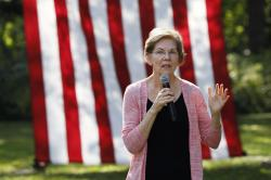 Democratic presidential candidate Sen. Elizabeth Warren speaks during a house party, Friday, Sept. 20, 2019, in Mount Vernon, Iowa. (AP Photo/Charlie Neibergall