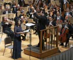 Nicole Cabell, Andris Nelsons and the BSO on Thursday, September 19 at Boston's Symphony Hall.