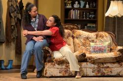 """Nafeesa Monroe and Michelle Beck in """"Top Girls"""" at the Geary Theater through October 13"""