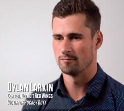 "Larkin laments the lack of well-fitting pants for those with ""hockey butt"""