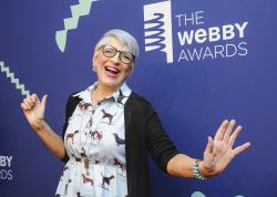 Lisa Lampanelli at the 23rd annual Webby Awards in New York.