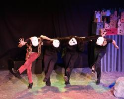 """A scene from """"Puppets & Poe"""" at Theatre of Yugan through November 2"""