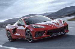 This undated photo provided by General Motors shows the 2020 Chevrolet Corvette Stingray, the new mid-engine version of the Corvette