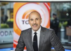 "Matt Lauer on the set of the ""Today"" show in New York."