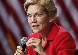 In this Oct. 2, 2019 file photo, Democratic presidential candidate Sen. Elizabeth Warren, D-Mass., speaks during a gun safety forum in Las Vegas