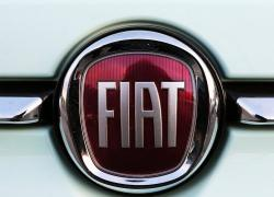 A Fiat logo pictured on a car in Bayonne, southwestern France, Thursday, Oct.31, 2019