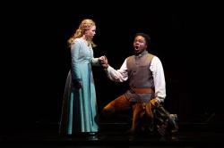 "Alisa Jordheim and Leroy Davis in Odyssey Opera's ""Maria, Regina d'Inghilterra."" (Photo by Kathy Wittman)"