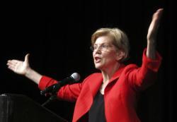 Sen. Elizabeth Warren, D-Mass., delivers the keynote address to the Nevada Democratic Convention in Reno, Nev.