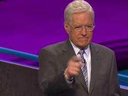 "Alex Trebek on Monday's episode of ""Jeopardy"""