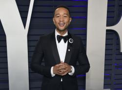 John Legend at the Vanity Fair Oscar Party in Beverly Hills, Calif.